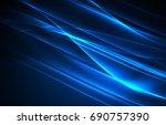 polar lights concept  glowig... | Shutterstock . vector #690757390