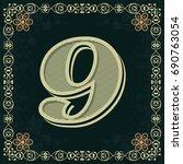 font alphabet vintage typeface...   Shutterstock .eps vector #690763054