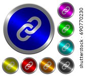 link icons on round luminous... | Shutterstock .eps vector #690770230