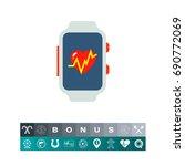 fitness tracker icon | Shutterstock .eps vector #690772069