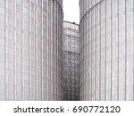 grain storage silos. galvanized ...