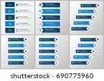 infographics template set   Shutterstock .eps vector #690775960