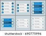 infographics template set | Shutterstock .eps vector #690775996