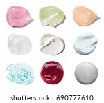 smears of different colors are... | Shutterstock . vector #690777610