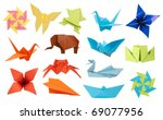 origami paper toys collection... | Shutterstock . vector #69077956