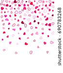 heart shape outline love... | Shutterstock .eps vector #690783268