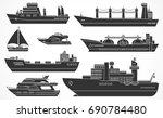 vector set of ships  tanker ...   Shutterstock .eps vector #690784480