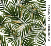 tropical palm leaves  jungle... | Shutterstock .eps vector #690784933