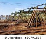 rusty rails | Shutterstock . vector #690791839