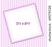baby arrival announcement | Shutterstock .eps vector #69079228