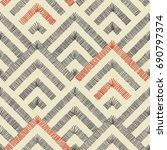 abstract seamless pattern on... | Shutterstock .eps vector #690797374