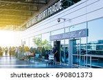 prague  czech republic   august ... | Shutterstock . vector #690801373