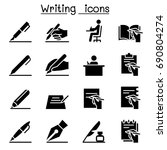 writing icon | Shutterstock .eps vector #690804274