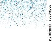 blue confetti stars. scatter...   Shutterstock .eps vector #690805903