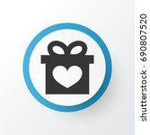 gift icon symbol. premium... | Shutterstock .eps vector #690807520