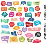 modern sale sticker and tag... | Shutterstock .eps vector #690810586