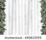 holly frame | Shutterstock . vector #690815593