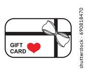 gift card icon vector   Shutterstock .eps vector #690818470
