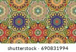 vector patchwork quilt pattern. ... | Shutterstock .eps vector #690831994