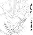 petroleum gas industrial...   Shutterstock .eps vector #690835714