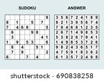 vector sudoku with answer 84.... | Shutterstock .eps vector #690838258