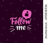 social media banner follow me... | Shutterstock .eps vector #690838336