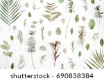 floral pattern made of... | Shutterstock . vector #690838384