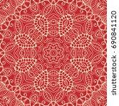 decorative seamless doodle... | Shutterstock .eps vector #690841120
