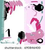 hand drawn stylized grunge...   Shutterstock .eps vector #690846400