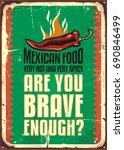 mexican food restaurant sign... | Shutterstock .eps vector #690846499