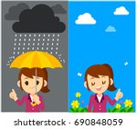 vector character  weather... | Shutterstock .eps vector #690848059