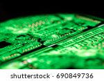 abstract  close up of circuits... | Shutterstock . vector #690849736