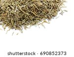 dry rosemary isolated on a... | Shutterstock . vector #690852373