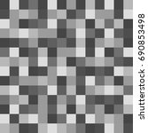 gray squares of different... | Shutterstock . vector #690853498