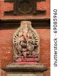 god statues,kathmandu,Nepal - stock photo