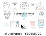 vector geometric shapes  trendy ... | Shutterstock .eps vector #690865720