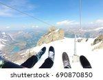 mt. titlis  switzerland from... | Shutterstock . vector #690870850