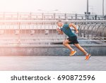 healthy lifestyle middle aged... | Shutterstock . vector #690872596