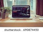 bangkok  thailand   august 06 ...   Shutterstock . vector #690874450