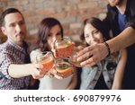 party with group of friends | Shutterstock . vector #690879976