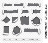 torn paper detailed photo... | Shutterstock .eps vector #690888163