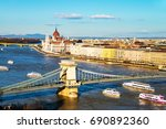 Budapest  Hungary. Aerial View...