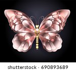 Jewelry Butterfly In Pink Gold...