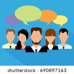 flat business people in a team. ... | Shutterstock .eps vector #690897163