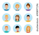 character or people avatar... | Shutterstock .eps vector #690897196