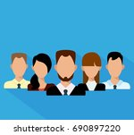 flat business people in a team. ... | Shutterstock .eps vector #690897220