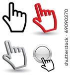 hand cursor 3d | Shutterstock .eps vector #69090370
