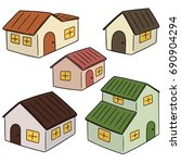 vector set of building | Shutterstock .eps vector #690904294
