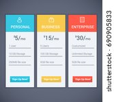 web menu plan pricing with... | Shutterstock .eps vector #690905833