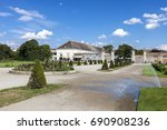 augarten with the augarten cafe ... | Shutterstock . vector #690908236